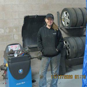 Ashton Weibel at Tire Machine