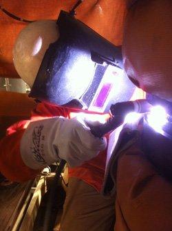 Vanessa Miller welding